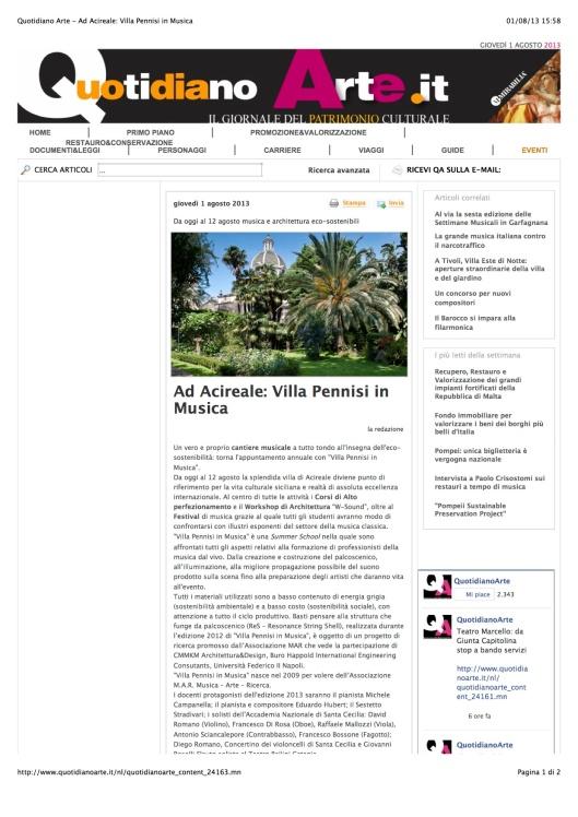 VPM 2013 - PRESS - Quotidiano Arte